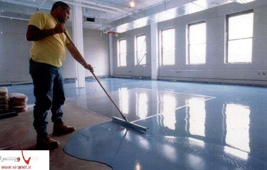 رنگ ضد حریق یاEPOXY در کف اتاق سرور