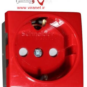 پریز برق قرمز اشنایدر که برای برق اضطراری استفاده میشود.