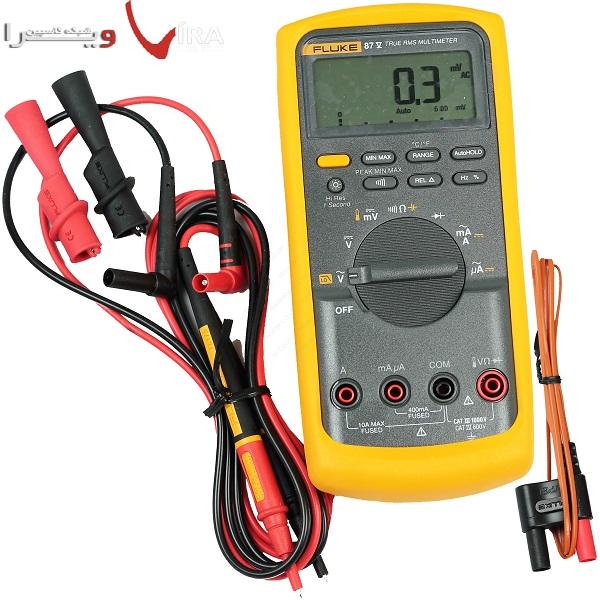 دستگاه مولتی متر دیجیتال حرفه ای مدل FLUKE 83V جهت اندازه گیری ولتاژ AC / DC