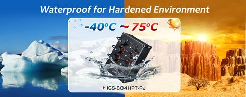 سوئيچ صنعتي 6 پورت پلنت SWITCH PLANET IGS 604HPT RJ ضد آب و ضد گرد و غبار و مقاوم در برابر شرایط بد جوی